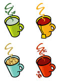 Cafe beverages coffee and tea Royalty Free Stock Photos