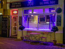A cafe Bistro at night Stock Photography