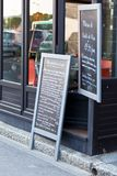 Cafe Blackboards Stock Photography