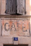 Cafe in Bonnieux Stock Image