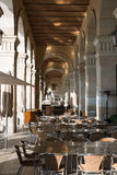 Restaurant in the Museu de Historia de Catalunya  Royalty Free Stock Image