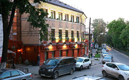 Cafe British Pub in Nizhny Novgorod Royalty Free Stock Photos