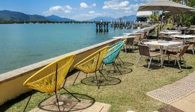 Cafe on the broadwalk of Cairns Royalty Free Stock Image