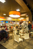 Cafe At Brussels Midi Station Stock Image