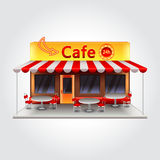 Cafe building vector illustration stock illustration