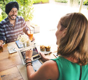 Cafe Casual Communication Relation Relaxing Concept Stock Photos