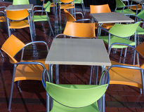 Cafe chair tables Royalty Free Stock Image