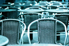 Cafe chairs Royalty Free Stock Photography