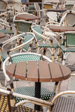 Cafe Chairs and Table, Paris Stock Image