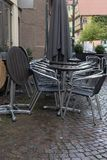 cafe chairs and table stock photography