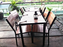 Cafe chairs and Tables Stock Photography