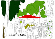 Cafe on the Champs-Elysees 3. Cafe on the Champs-Elysees. Vector illustration eps8 Stock Images