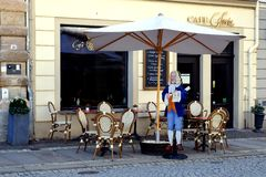 Cafe in the city. Leipzig, Germany stock photo