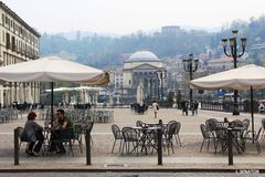 Cafe in the citycenter of Torino Stock Image