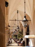 Cafe in cloister Royalty Free Stock Photo