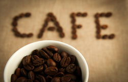 CAFE Coffee Beans Royalty Free Stock Photo
