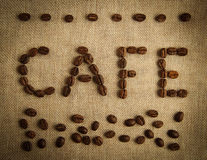 CAFE Coffee Beans Stock Image