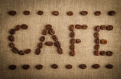 CAFE Coffee Beans Stock Images