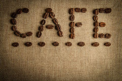 CAFE Coffee Beans Royalty Free Stock Image