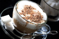Cafe - coffee Latte Cappuccino Stock Image