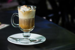 Cafe Coffee Latte in glass Royalty Free Stock Images