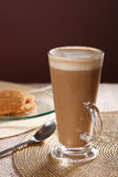 Cafe coffee Latte in a tall glass royalty free stock photo