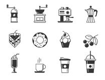 Cafe and confectionery icon set Stock Photo