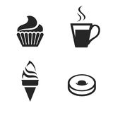 Cafe and confectionery icons Royalty Free Stock Photography