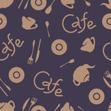 Cafe corporate style. Vector elements. Seamless pattern. Stock Photography