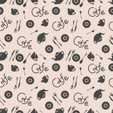 Cafe corporate style. Vector elements. Seamless pattern. Stock Photo