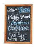 Cafe cream teas sign Royalty Free Stock Photo