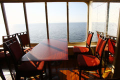 Cafe in the cruise Stock Images