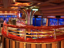 Cafe on the cruise ship. At night Stock Images