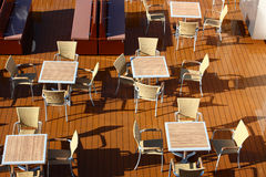 Cafe on the cruises Stock Images