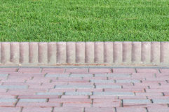 Cafe curbs and grass Stock Photo