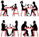 Cafe customers stock illustration