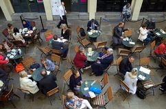 Cafe Customers Covent Garden Royalty Free Stock Photography