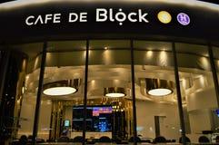 Cafe DE Block royalty-vrije stock afbeeldingen