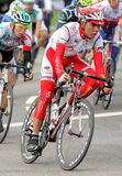 Cafe de Colombia's cyclist Camilo Suarez Stock Image