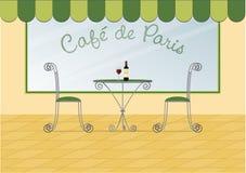 cafe de paris Arkivbild