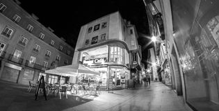 Cafe del somewhere, Segovia Spain. A little cafe operates into the night in Segovia, Spain royalty free stock photography