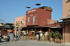 Cafe des Espices, Marrakesh Royalty Free Stock Photography