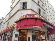 Cafe des 2 Moulins. Montmartre, Paris royalty free stock photos
