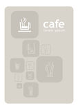 Cafe design. Graphic design for the new caf Royalty Free Stock Photos