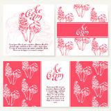 Cafe design template. Hand drawn dessert card. Royalty Free Stock Photo