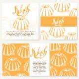 Cafe design template. Hand drawn dessert card.  Stock Images
