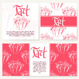 Cafe design template. Hand drawn dessert card. Set of  restaurant menu template for corporate identity. Royalty Free Stock Images