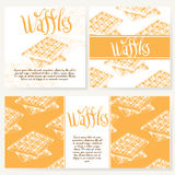 Cafe design template. Hand drawn dessert card. Set of  restaurant menu template for corporate identity. Stock Images