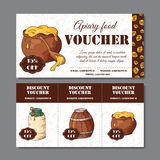 Cafe discount voucher for your business. Modern style with food element on background. Template vector Royalty Free Stock Photo