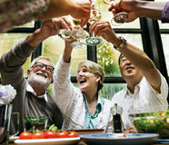 Cafe Diverse Casual Friendship Relaxation Group Concept Stock Photos